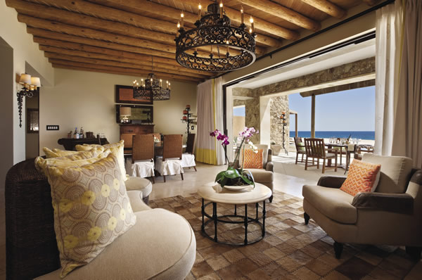 The 3-bedroom beachfront suite at Capella Pedregal is ideal for extended family vacations.