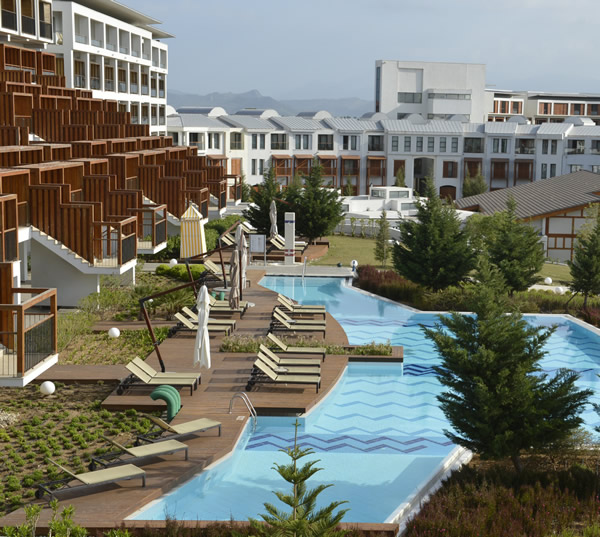 The new Club Med Belek offers guestrooms and villas.