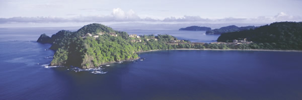 The resort is located on Costa Rica's Pacific Coast, and accommodations offer stunning views of the surroundings.