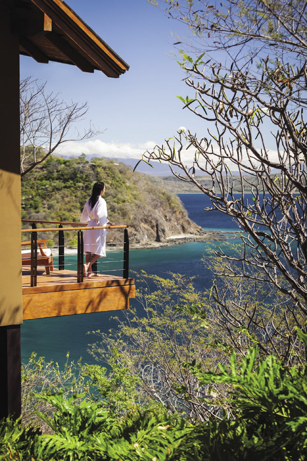 The resort is located on Costa Rica's Pacific Coast, and accommodations offer stunning views of surroundings.