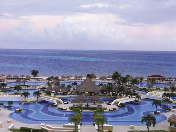 The resort offers seven pools, including the expansive main pool area.