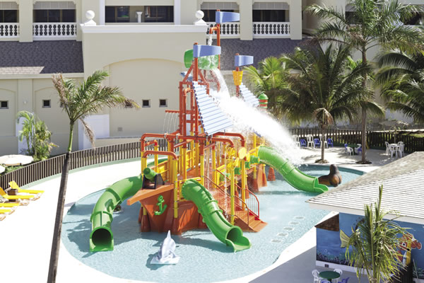 The water park at the Iberostar Rose Hall Suites in Jamaica.
