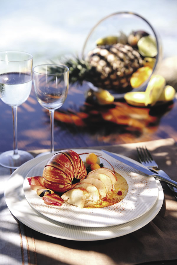 A crayfish dish is one of many seafood specialties on the islands.