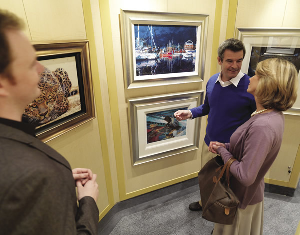 Art aficionados will enjoy the onboard art gallery.