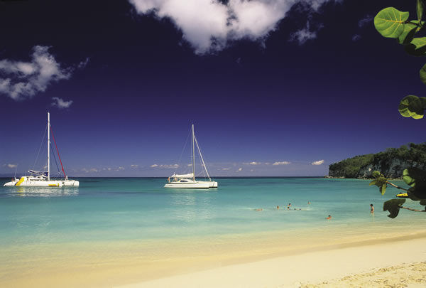 Beachside on Marie-Galante.