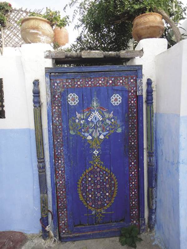 Beautifully painted doors can be seen throughout Oudaya.