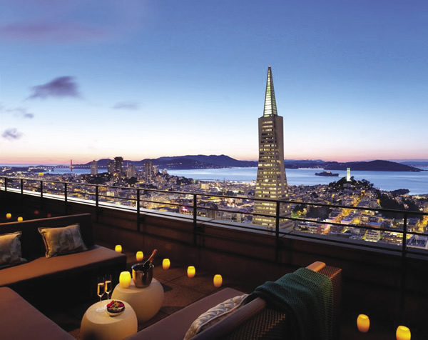 Bird's-eye view of the city from Mandarin Oriental.