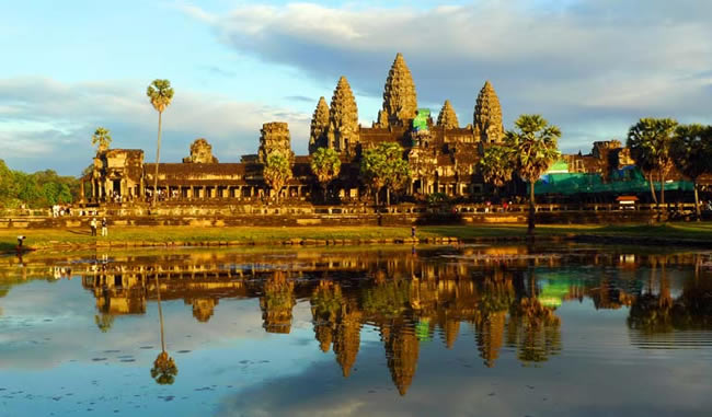 Angkor Wat in Cambodia, a highlight of Crystal Cruises' extended land program.