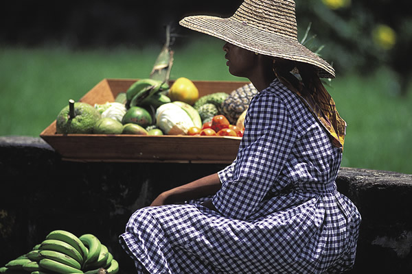 Farmer on Marie-Galante.