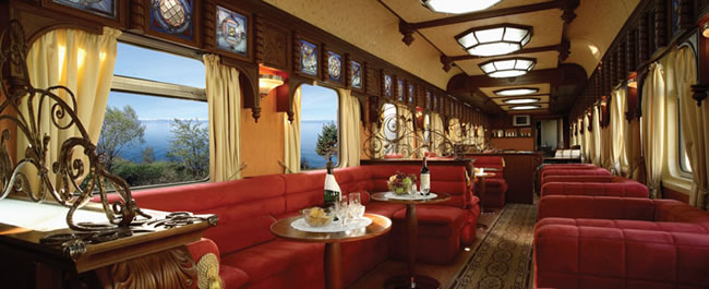Gold Car Lounge on the Golden Eagle.