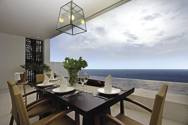 In-room villa dining at Montigo Resorts Nongsa in Indonesia.
