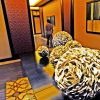 Giant sea shells from the South China Sea accent the hallway of the Sheraton Macao's spa, a quiet retreat featuring local flowers and herbs in its treatments.