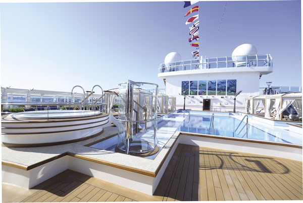 One of the 'wow' factors is the ship's sleek Upper Deck.