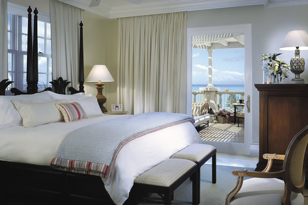 Opulent accommodations await guests at Regent Palm Turks and Caicos.