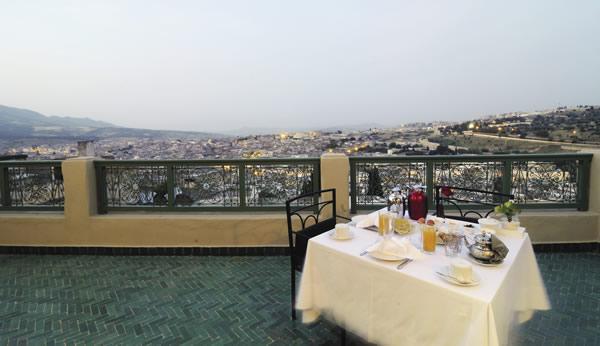 Terrace at Palais Faraj in Fes.