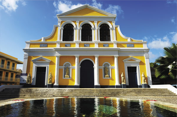 The Saint-Pierre-et-Saint-Paul Church in Pointe-a-Pitre on Grande-Terre