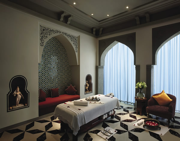 The Willow Stream Spa at the Fairmont Jaipur in India.