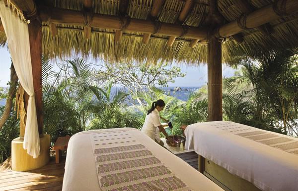 The spa at Capella Ixtapa.