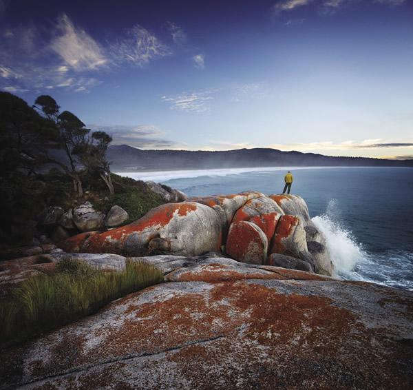 Binalong Bay, a coastal town in northeast Tasmania.