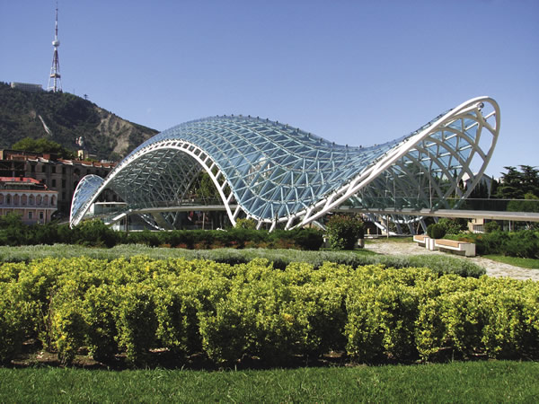 Bridge of Peace in Georgia's capital, Tbilisi.