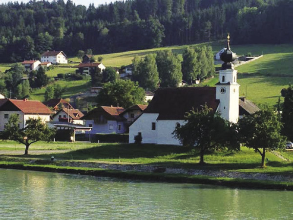 Small villages dot the riverbanks of the Danube.