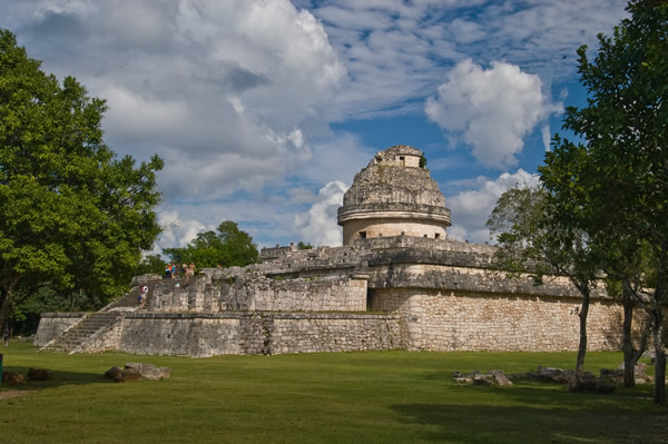 The Observatory at Chichen Itza.