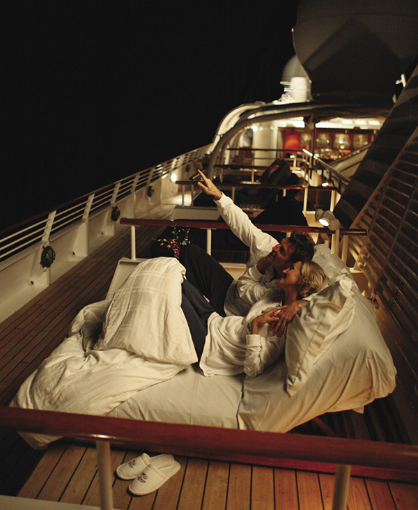 SeaDream Yacht Club's Balinese beds
