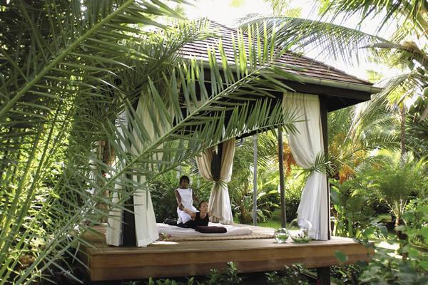 Spa pavilion at Hotel Saint-Barth Isle de France.