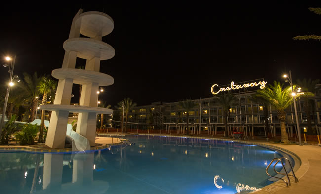 Universal's Cabana Bay Beach Resort Castaway Building
