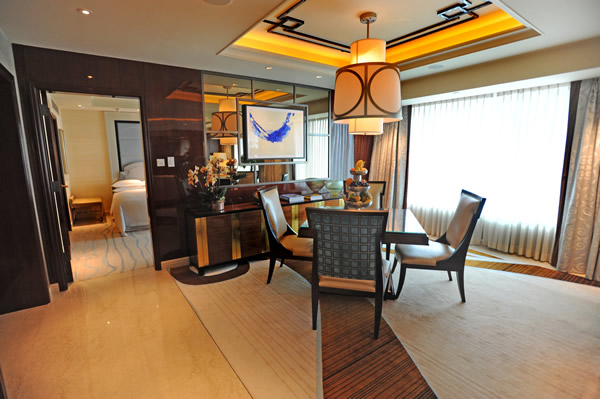 An Ambassador suite at the Sheraton Macao.