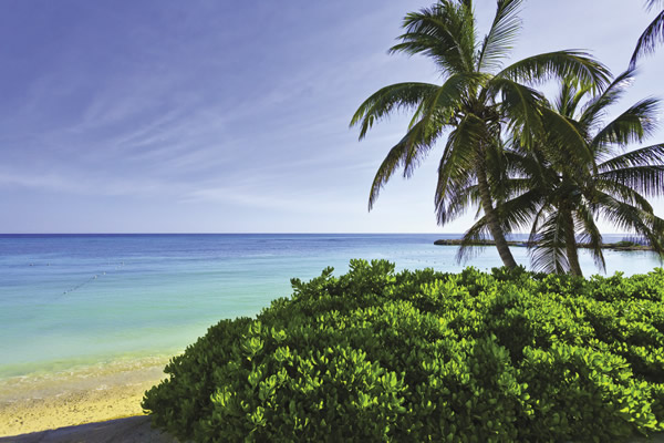 Beachside in Montego Bay.