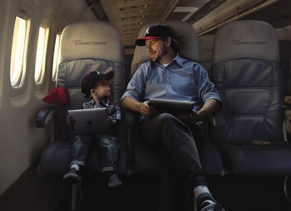 Delta's Economy Comfort seating.
