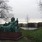 The beautiful scenery in Copenhagen.