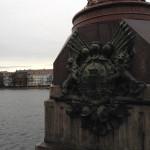 The walk along Queen Louise's Bridge from inner Copenhagen to Norrebro.