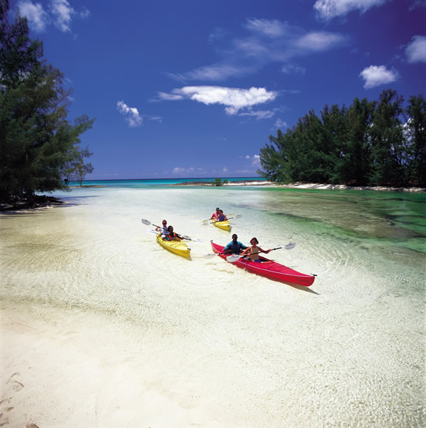 Kayaking on Grand Bahama Island.