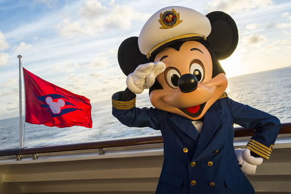 Kids can have fun spotting Mickey Mouse during the sailing.