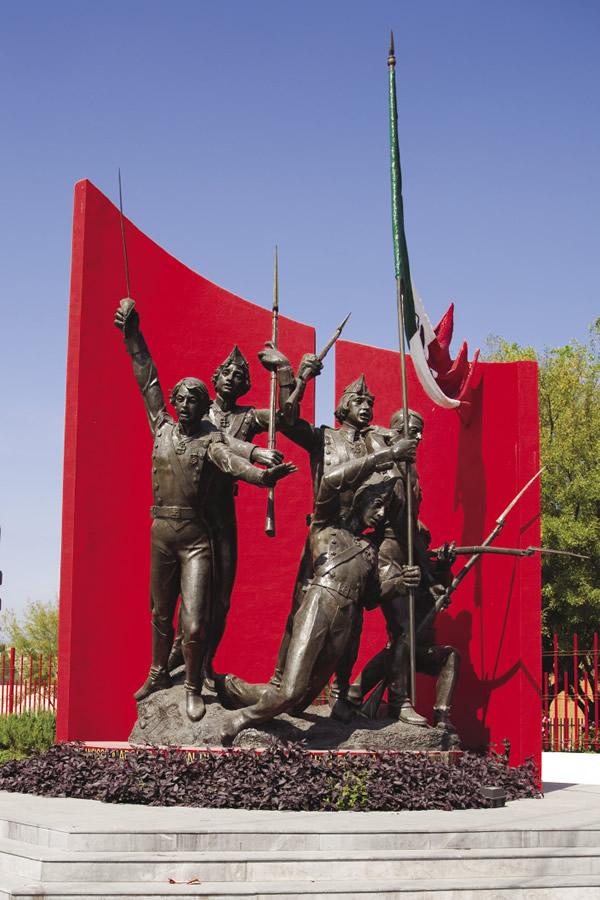 Memorial statue of Monterrey.
