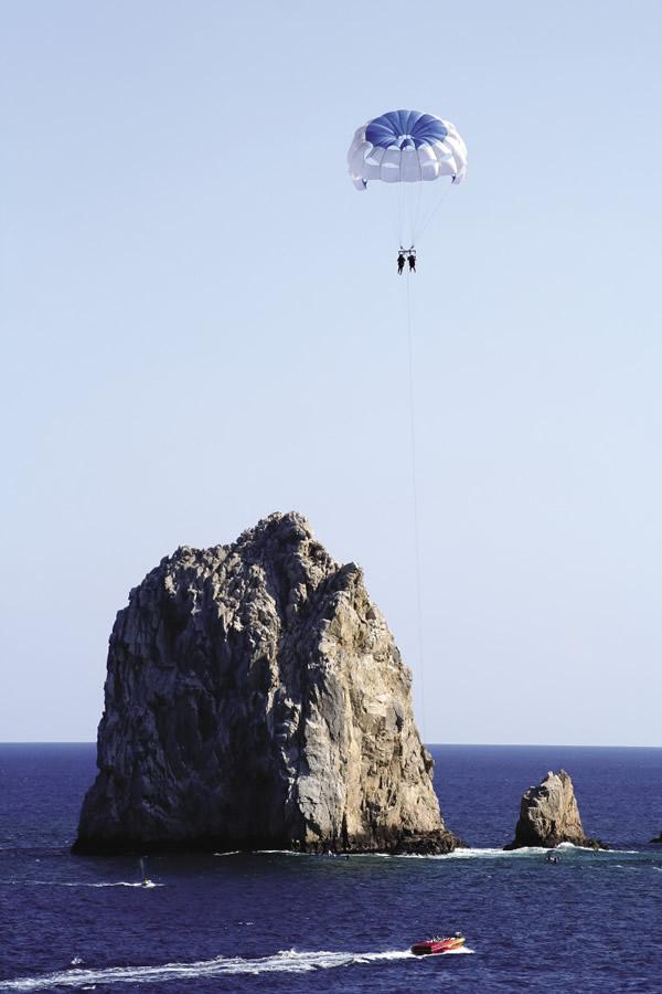 Parasailing in Los Cabos.