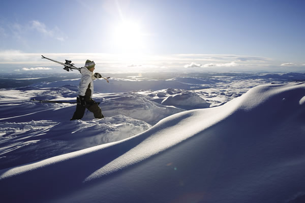 Skiing in Are in Sweden.