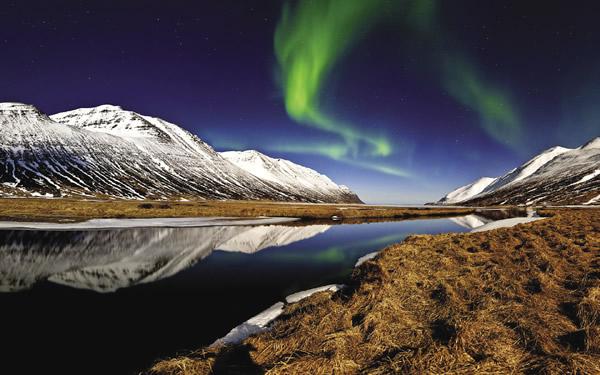 The Aurora Borealis in Iceland.
