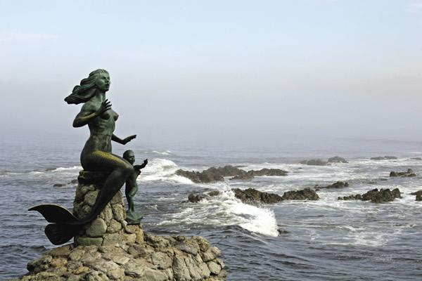The Queen of the Seas mermaid in Mazatlan.