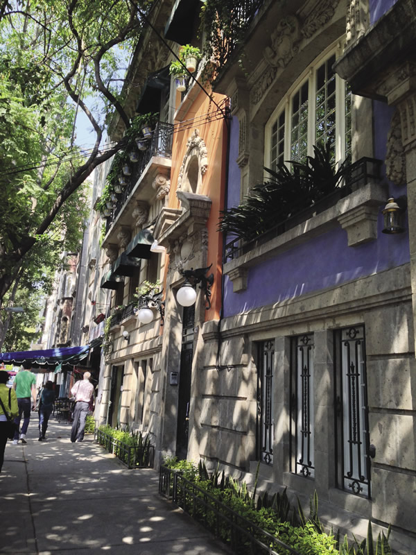 The city's picturesque Roma neighborhood.