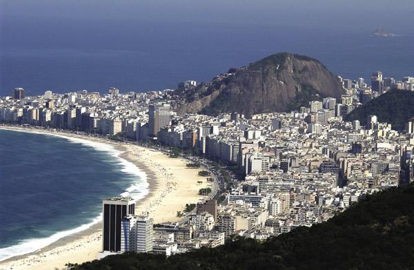 The stunning beaches of Rio de Janeiro.