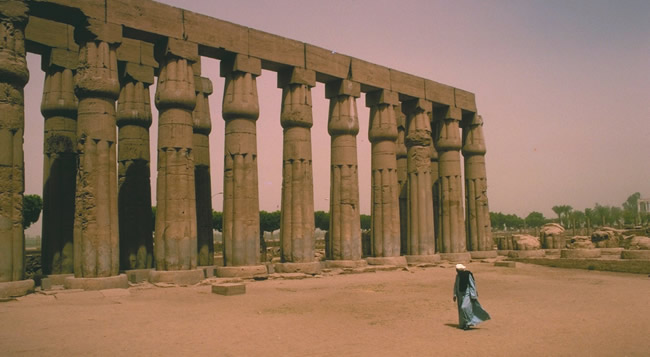 West Bank temple ruins