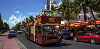 Big Bus Miami Tours in Miami Beach.