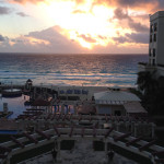View from the balcony of our room at CasaMagna Marriott Cancun Resort.