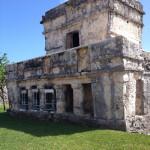 The ruins in Tulum.