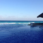 The infinity pool at CasaMagna Marriott Cancun.