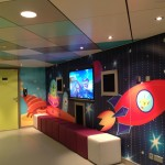 Kids have their own onboard space.