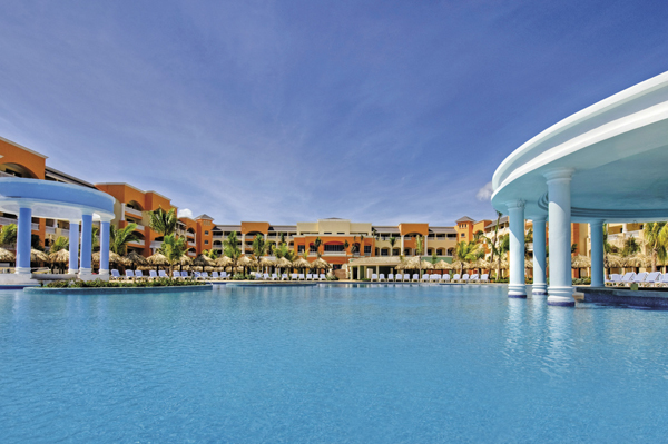 Poolside at the Iberostar Rose Hall Suites.